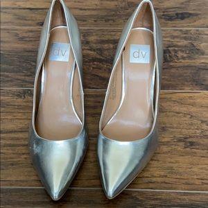 dv Dolce Vita Brie Silver Block Heels